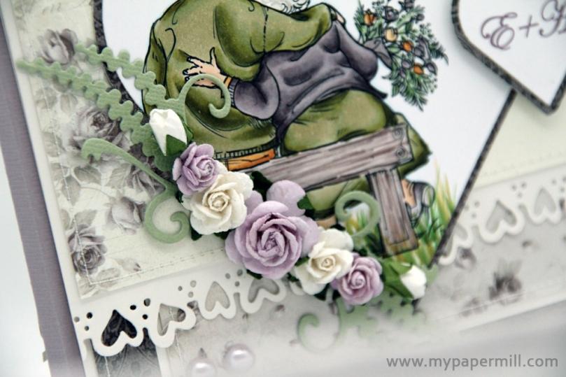sølvbryllup detalj blomster