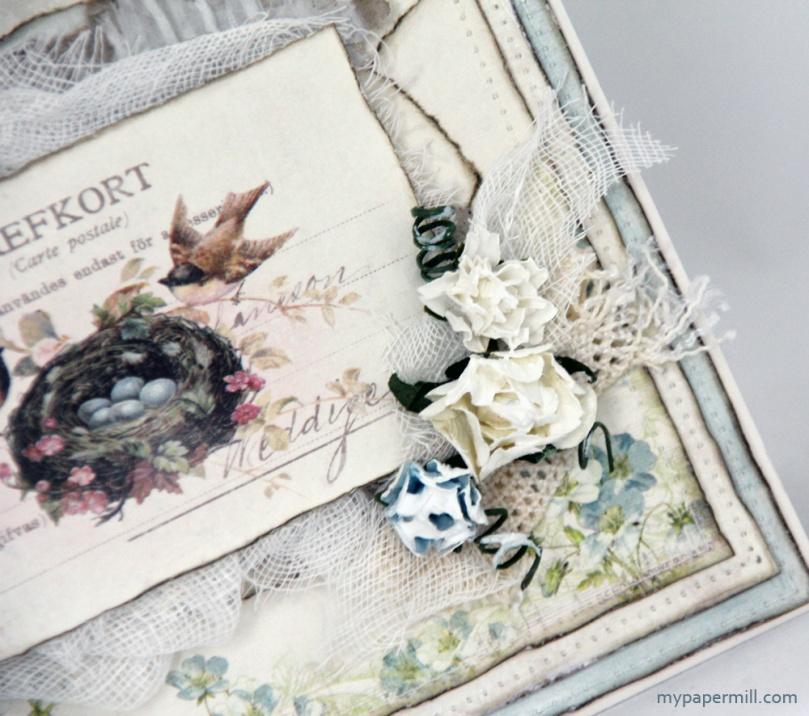 Vintage Garden-kort detalj blomster