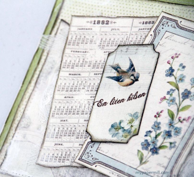 Vintage Garden-kort ticket en liten hilsen