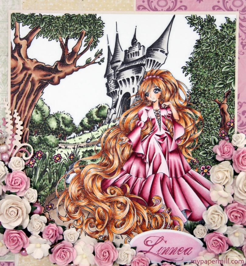 Linnea 3 år Make It Crafty Far Away Castle Maiden With Long Golden Hair