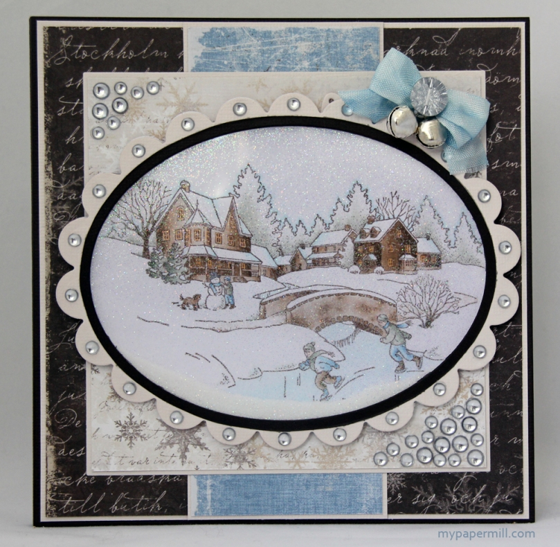 Snowy Winter Scene-kort