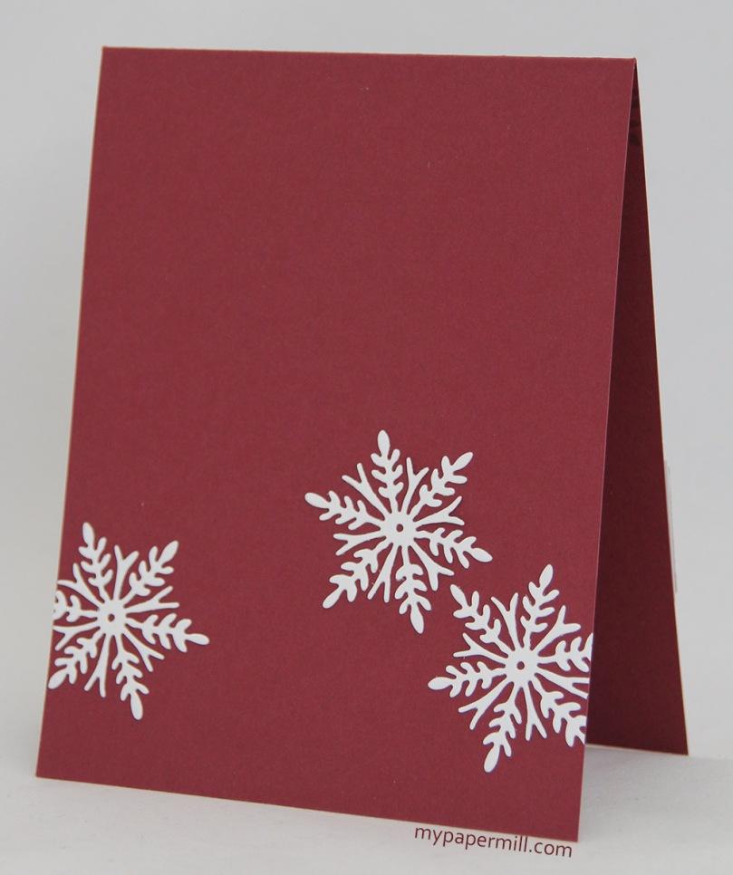 rødt C&S julekort Penny Black bakside