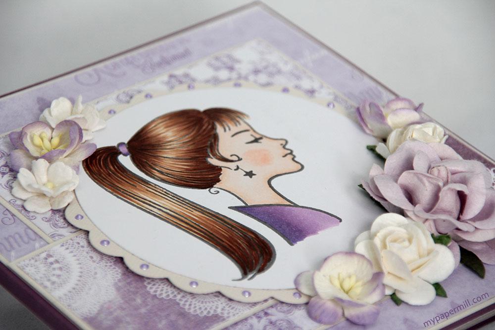 konfirmasjonskort Isabelle blomst