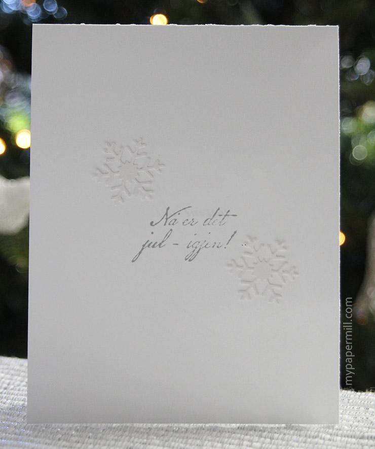 hvitt på hvitt julekort bakside