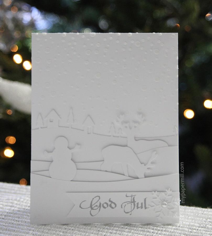 hvitt på hvitt julekort front