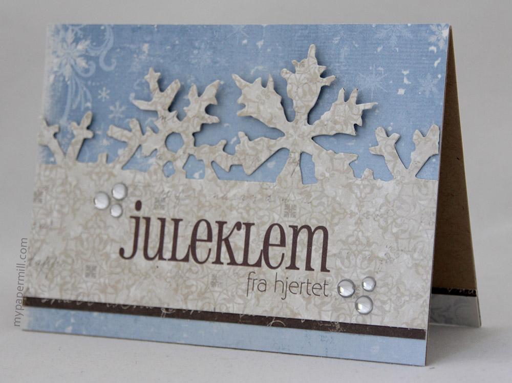 Ett Trykk 0515 Julekort etter skisse Juleklem fra hjertet front skrått