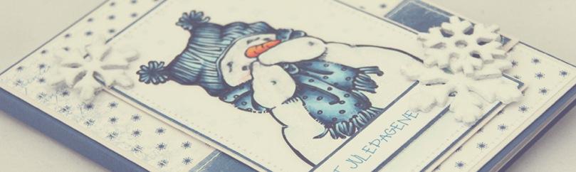 Ett Trykk 0515 Julekort etter skisse Mo Manning Giggling Snowman front skrått PS