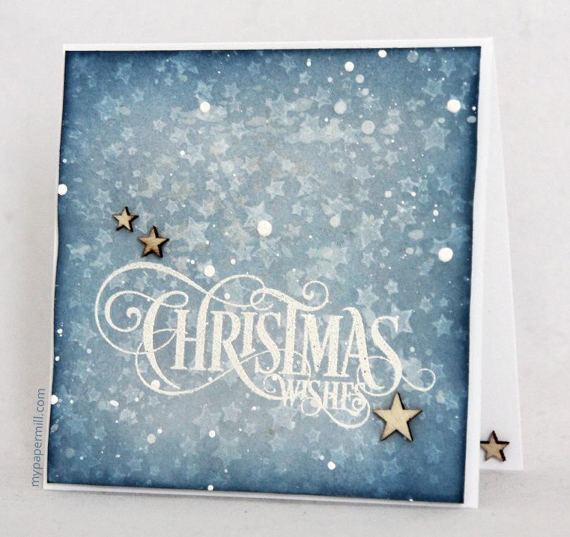 Ett Trykk 0515 Tim Holtz julekort skrått