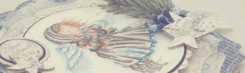 Julehilsen Ragged Angel front skrått PS