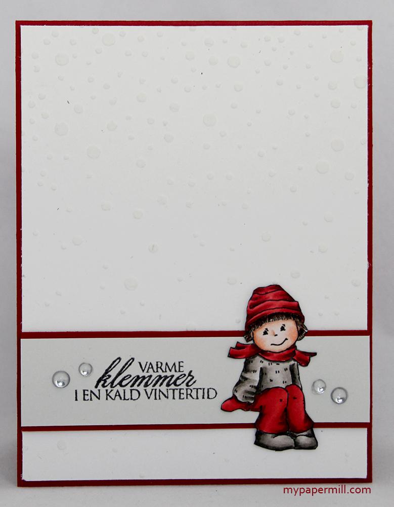 Julekort 0515 rødt