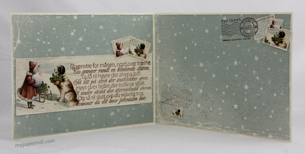 julekort med jente og hund innsider