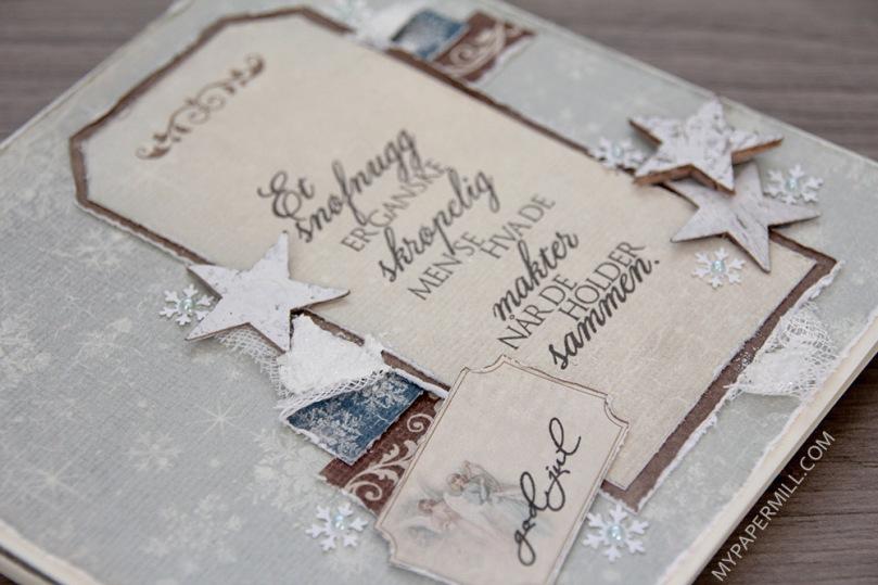 August - julekort på bestilling bakside skrått