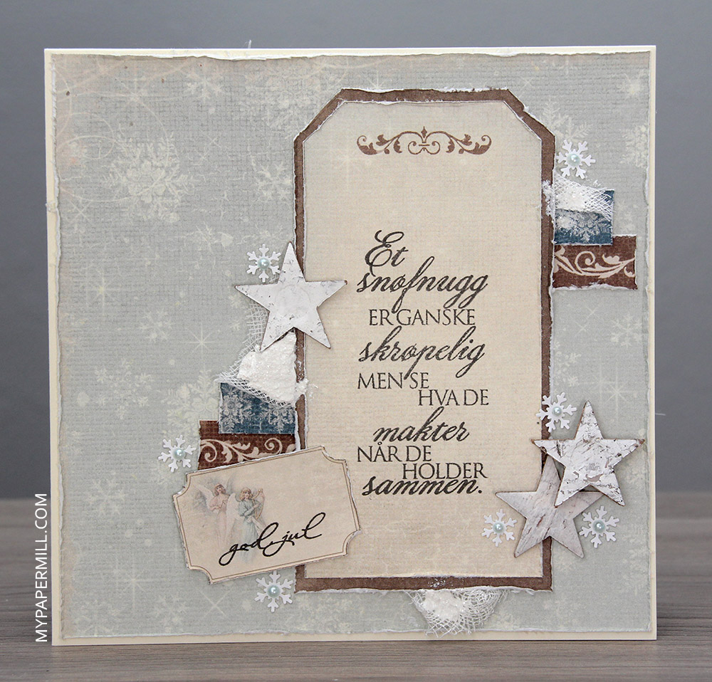 August - julekort på bestilling bakside