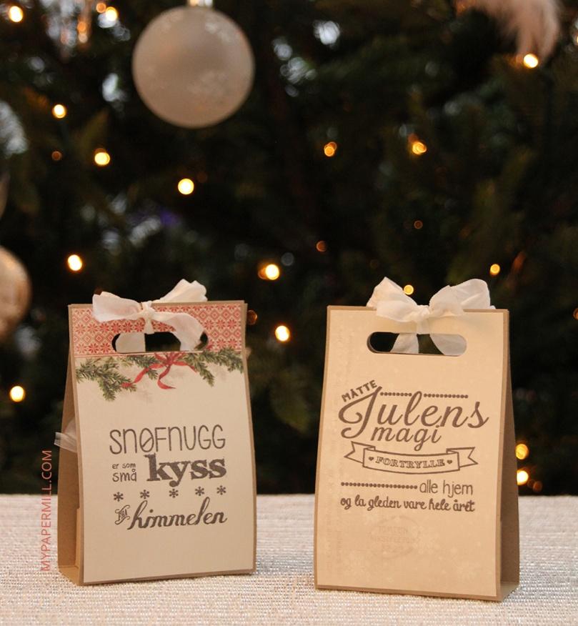 Gavekortholdere juletema bakside