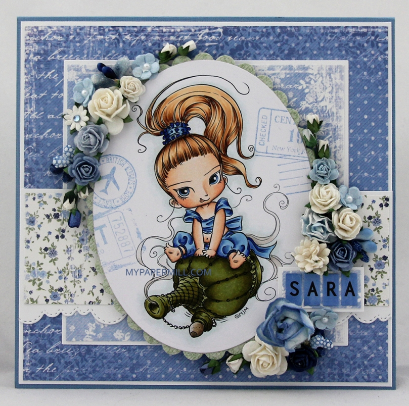Bursdagskort Sara Mo Manning Little Gini front