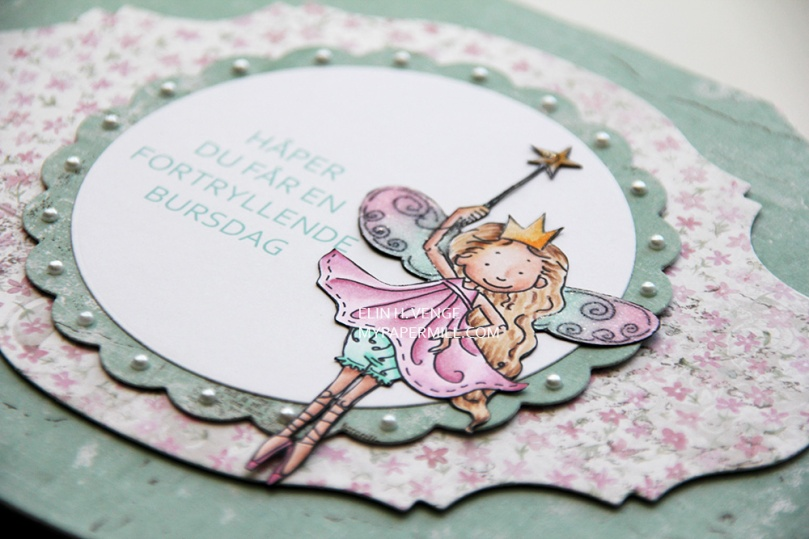 Mo Manning Little Fairies bakside detalj