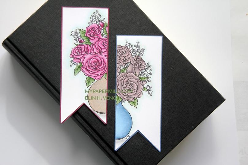 Mo Manning Roses in Vase bokmerker