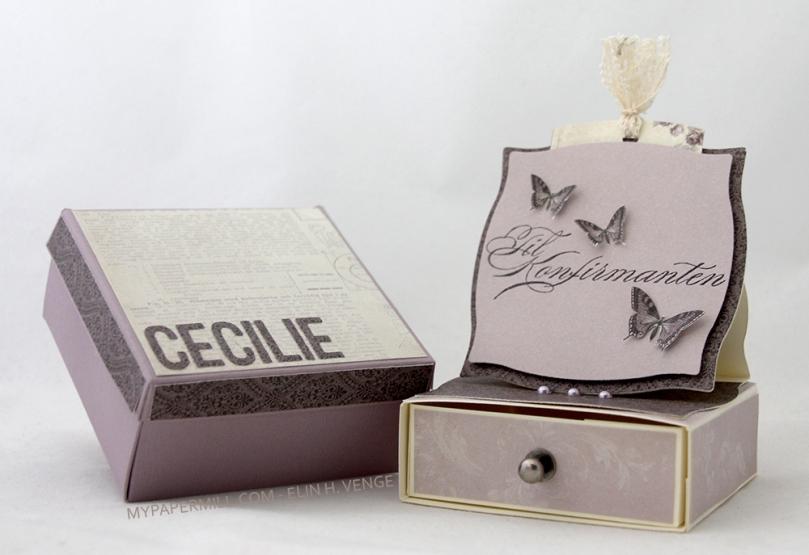 ET0416 En mal taglommestaffelikommodekort Cecilie