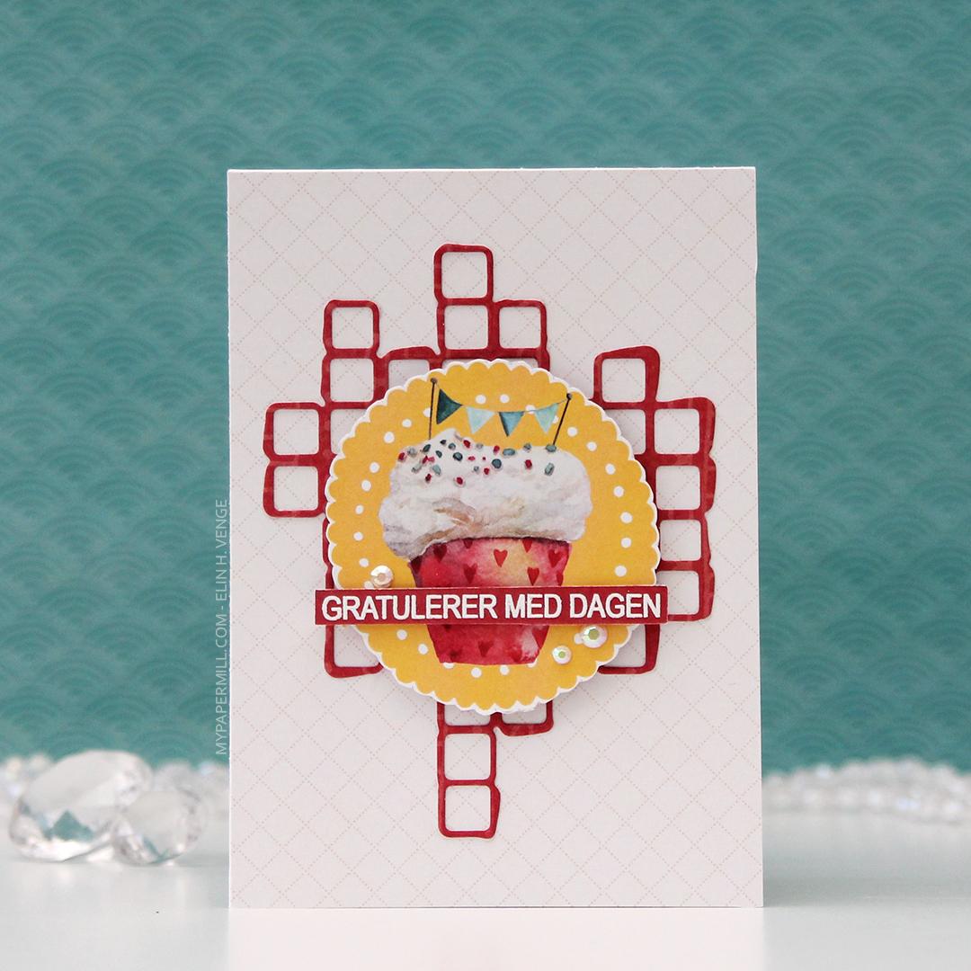 HK P13 Gratulerer med dagen cupcake med banner front