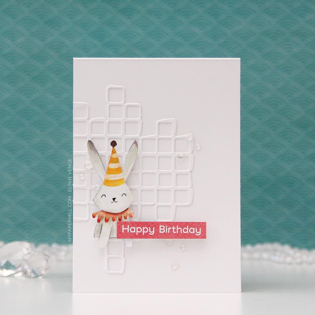 HK P13 Happy Birthday kanin med hatt front
