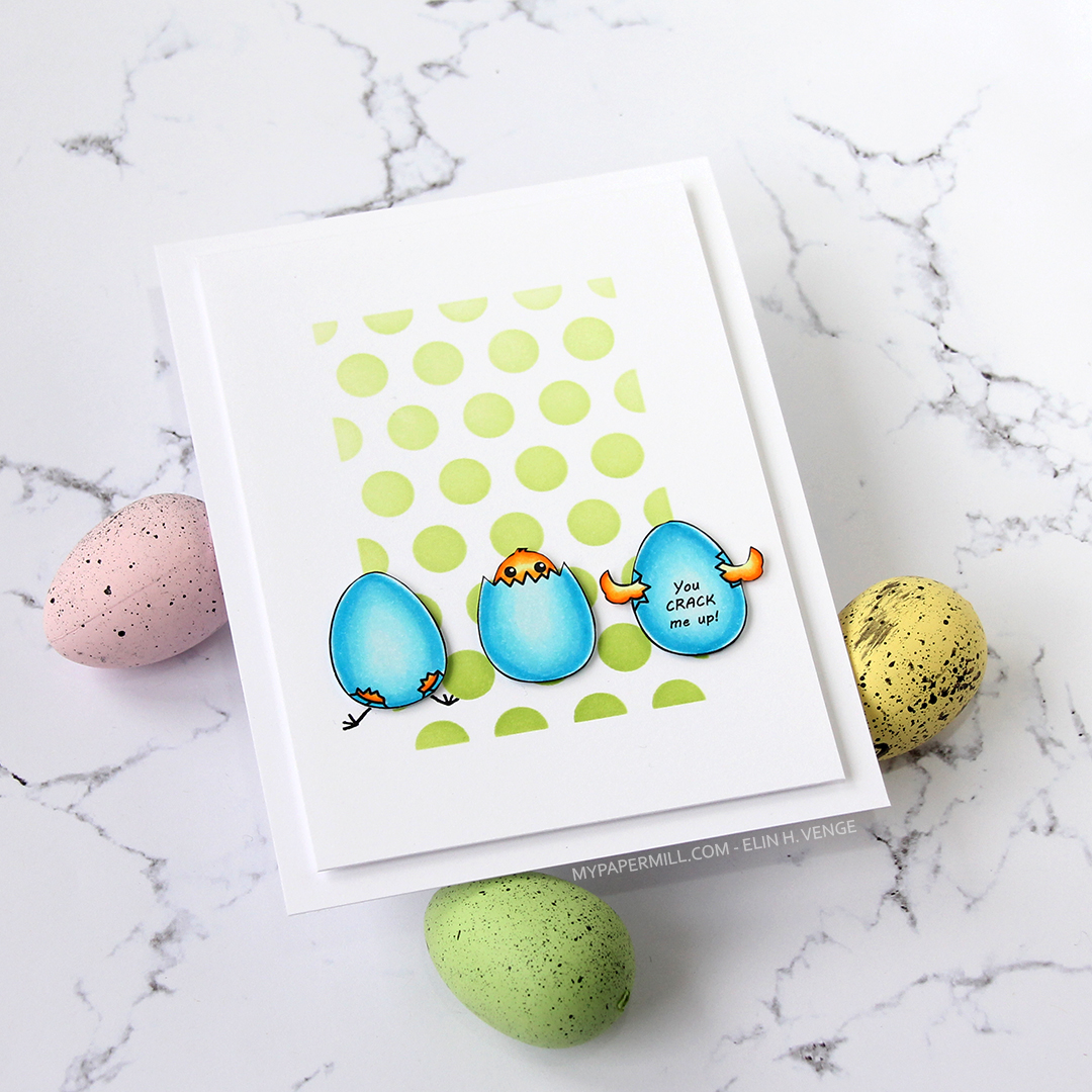 Streamside Studios Hatching Chicks flatlay venstre med egg