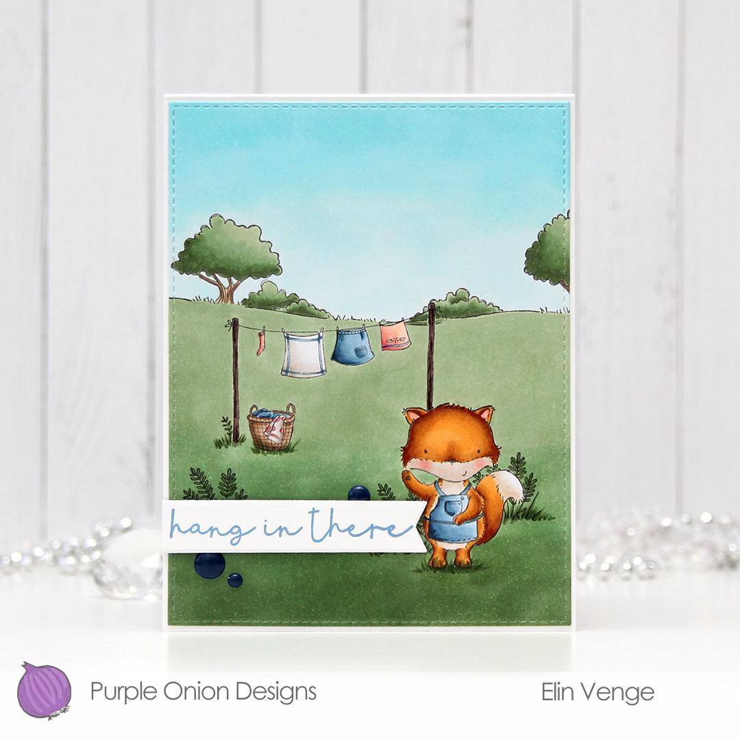 Purple Onion Designs - Elin Venge - Jane Clothes Line Country Side front