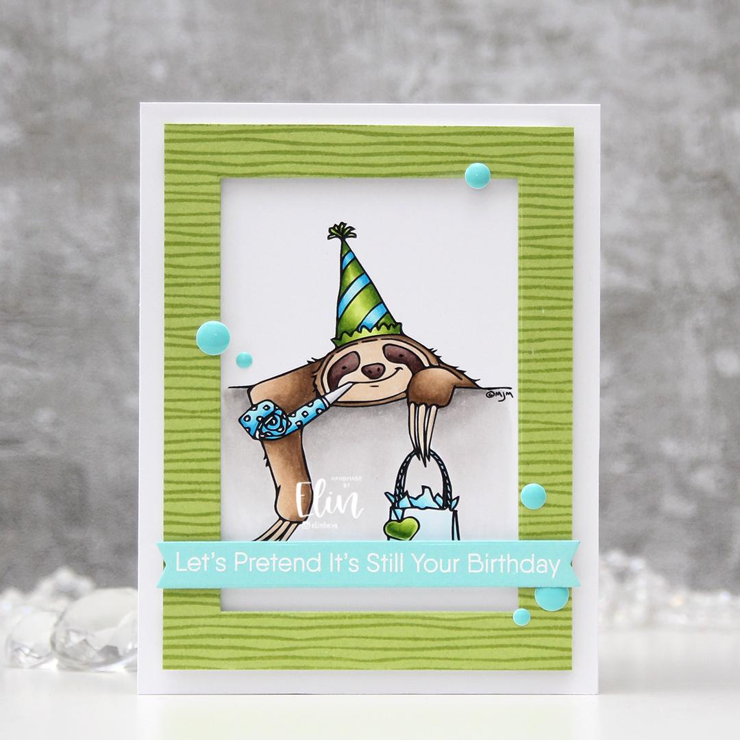 Mo Manning Belated Birthday Sloth front rett