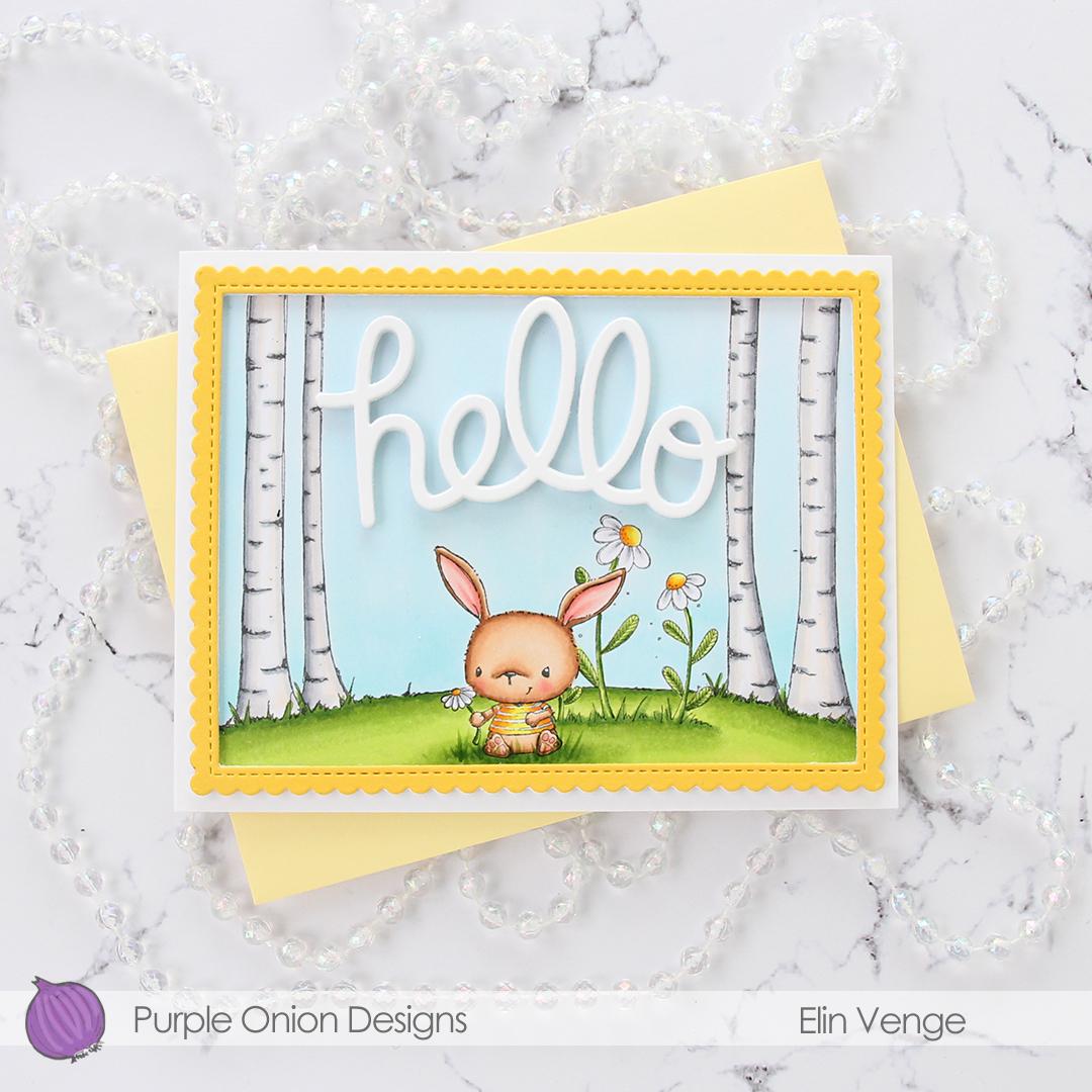 Purple Onion Designs - Elin Venge - Chloe Birch Tree Background Bloom no. 2 Daisy flatlay