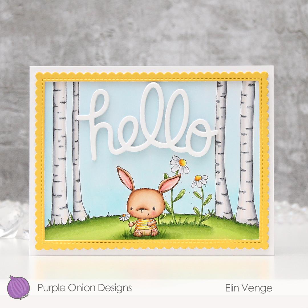 Purple Onion Designs - Elin Venge - Chloe Birch Tree Background Bloom no. 2 Daisy front