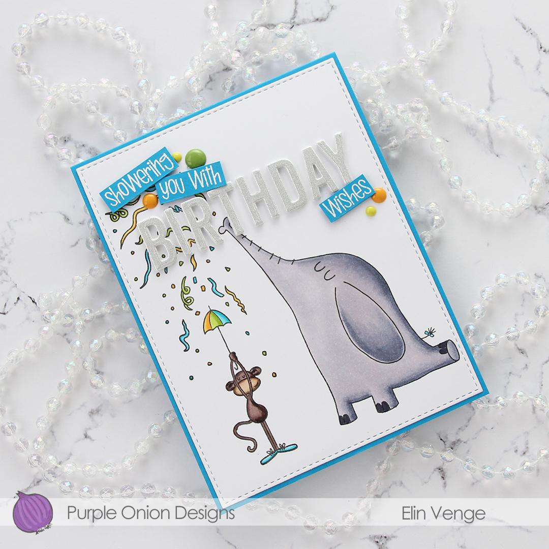 Purple Onion Designs - Elin Venge - Confetti Celebration flatlay angled
