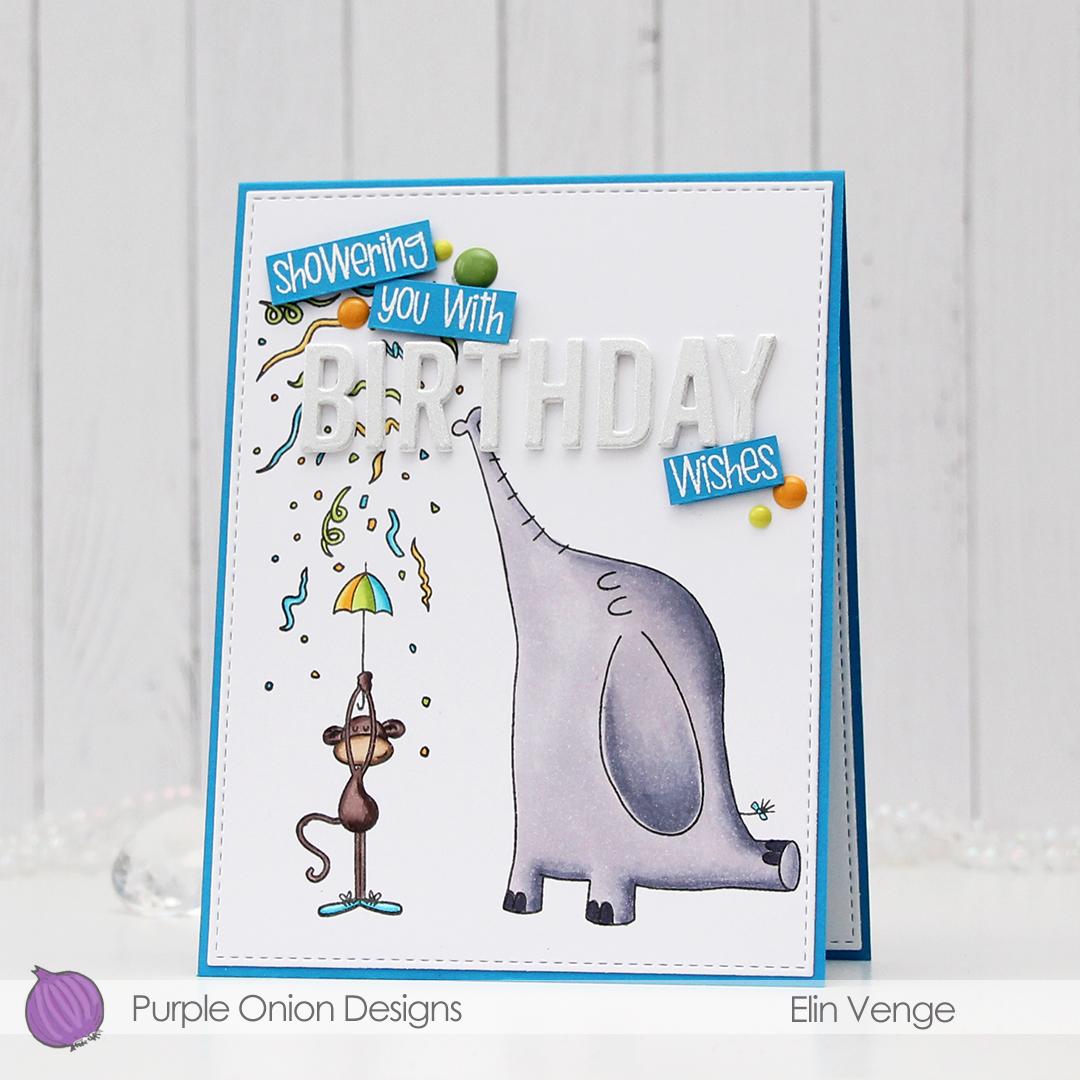 Purple Onion Designs - Elin Venge - Confetti Celebration front angled
