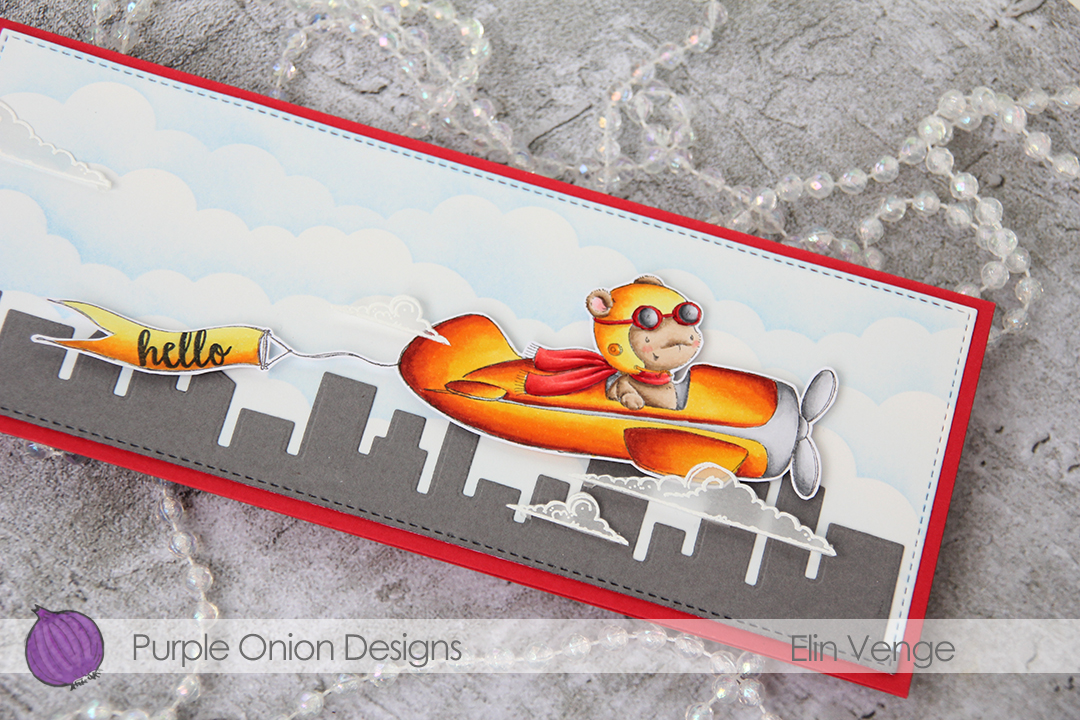 Purple Onion Designs - Elin Venge - T-Bird and Banner and Clouds and journey sentiment set detail