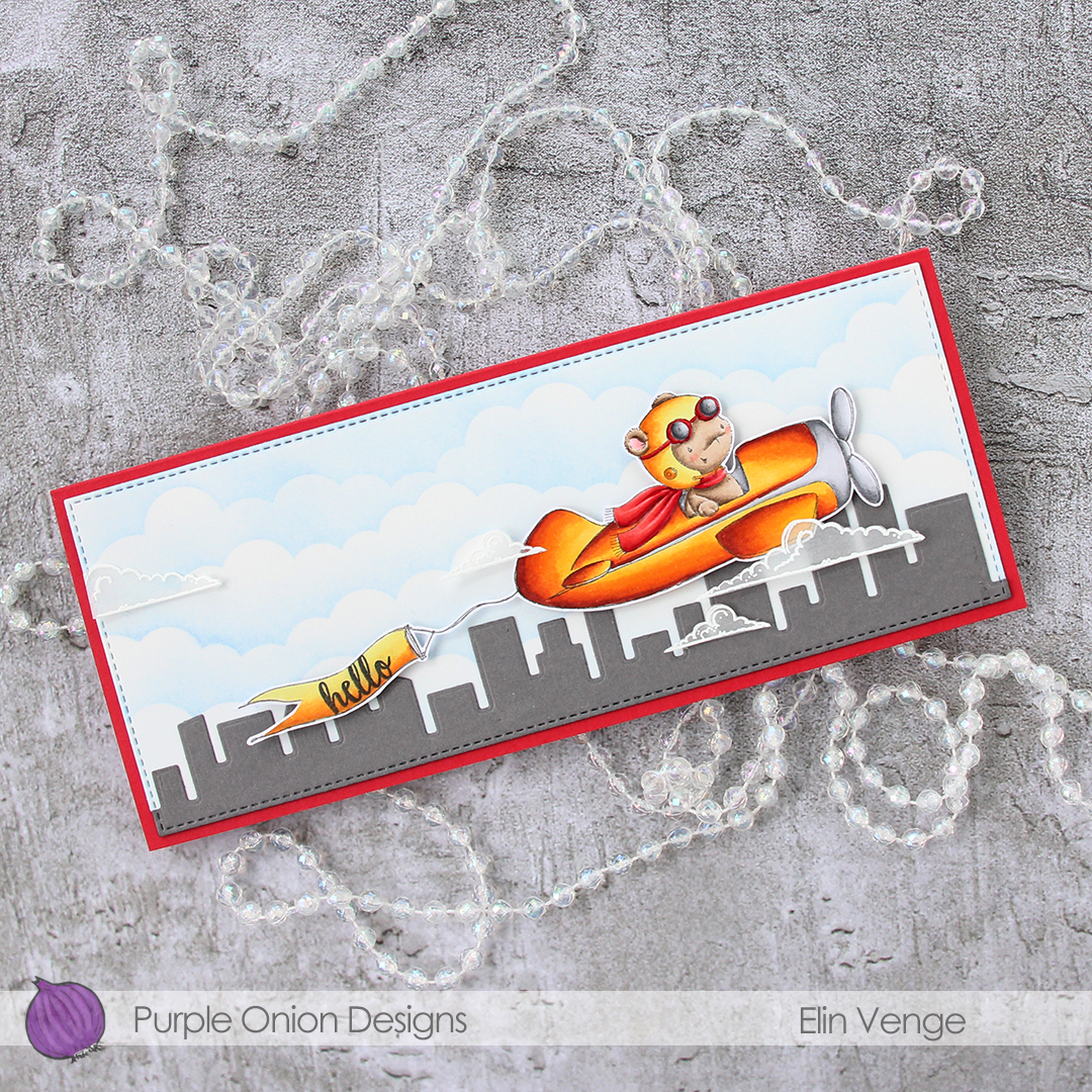 Purple Onion Designs - Elin Venge - T-Bird and Banner and Clouds and journey sentiment set