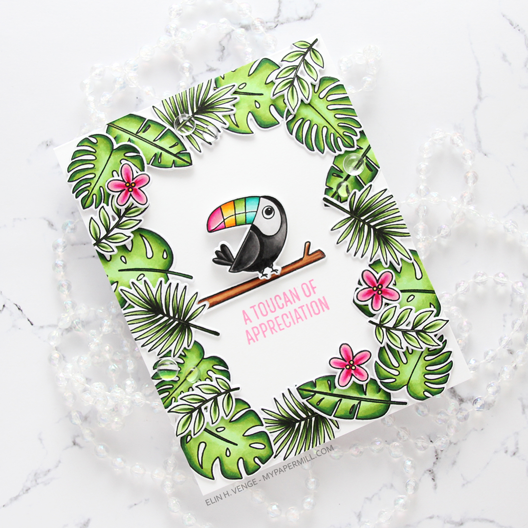 My Favorite Things Something to Squawk About Toucan of Appreciation flatlay skrått