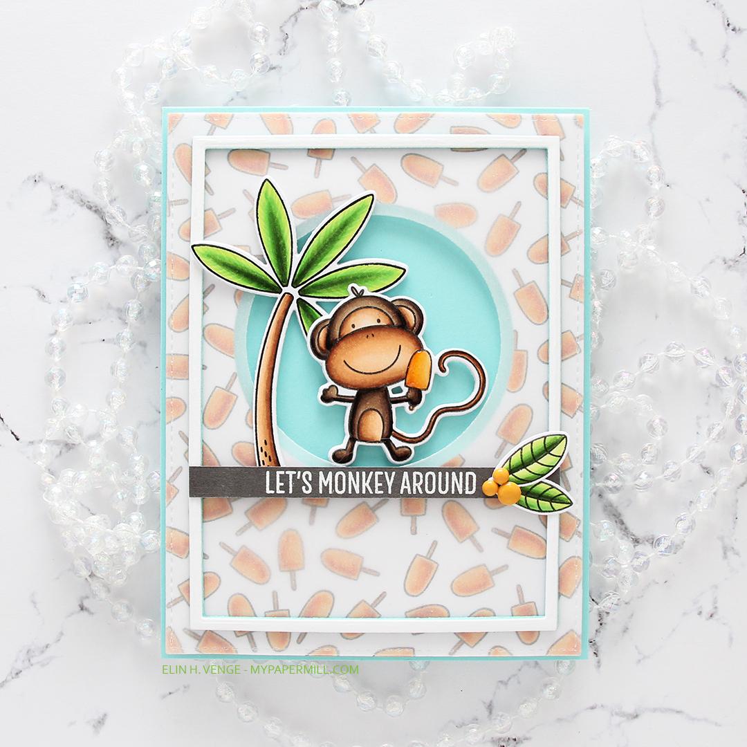 My Favorite Things Summer Safari Let's Monkey Around flatlay rett