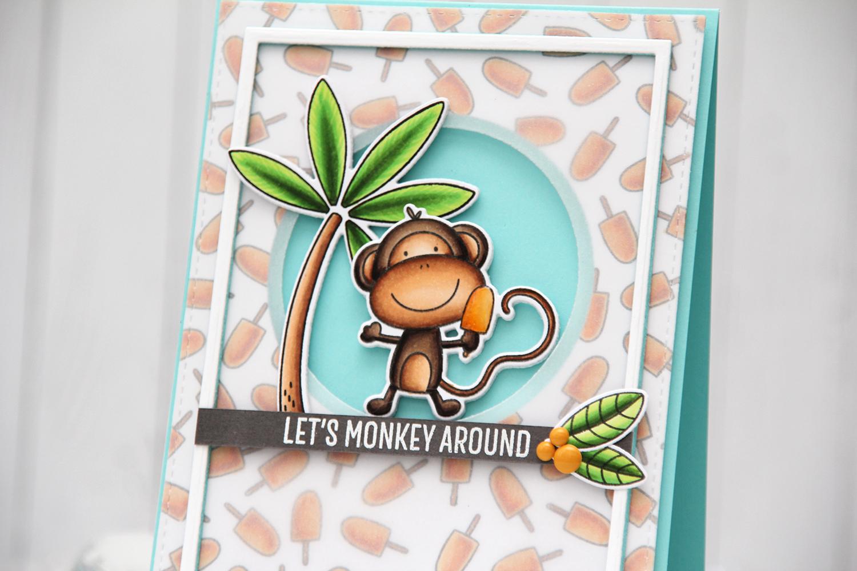 My Favorite Things Summer Safari Let's Monkey Around front skrått vid