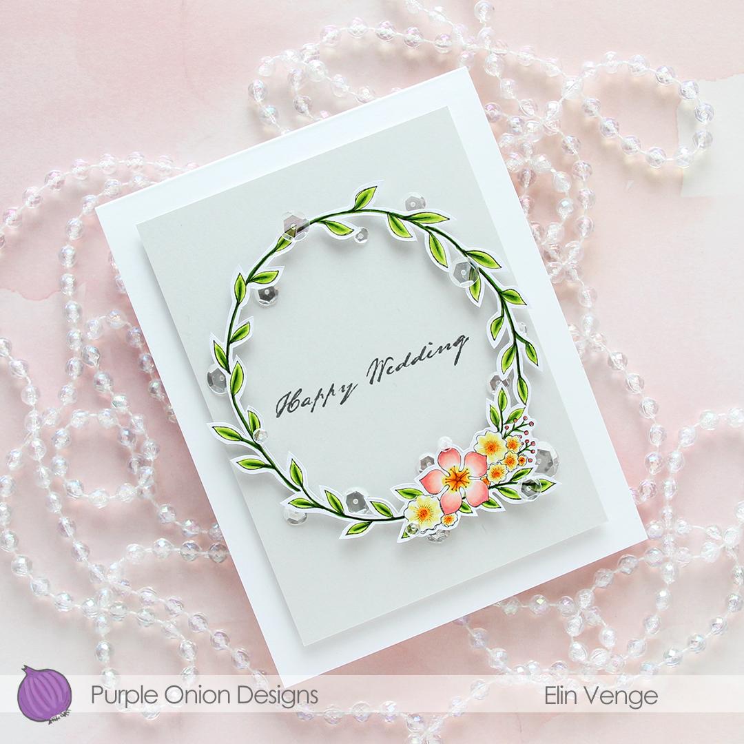 Purple Onion Designs - Elin Venge - Large Floral Wreath flatlay angled