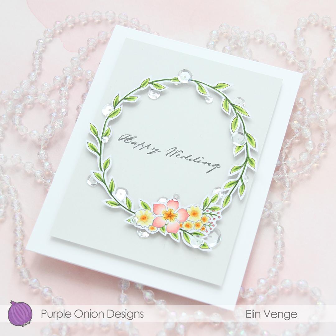Purple Onion Designs - Elin Venge - Large Floral Wreath flatlay angled2