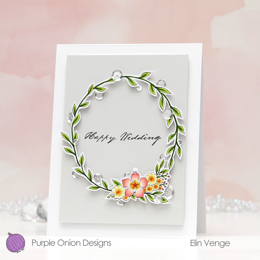 Purple Onion Designs - Elin Venge - Large Floral Wreath front angled