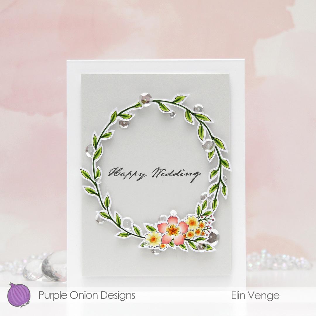 Purple Onion Designs - Elin Venge - Large Floral Wreath front